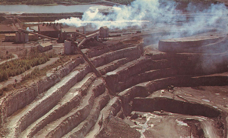 Marmoraton Mine,  Bethlehem Steel - Post card