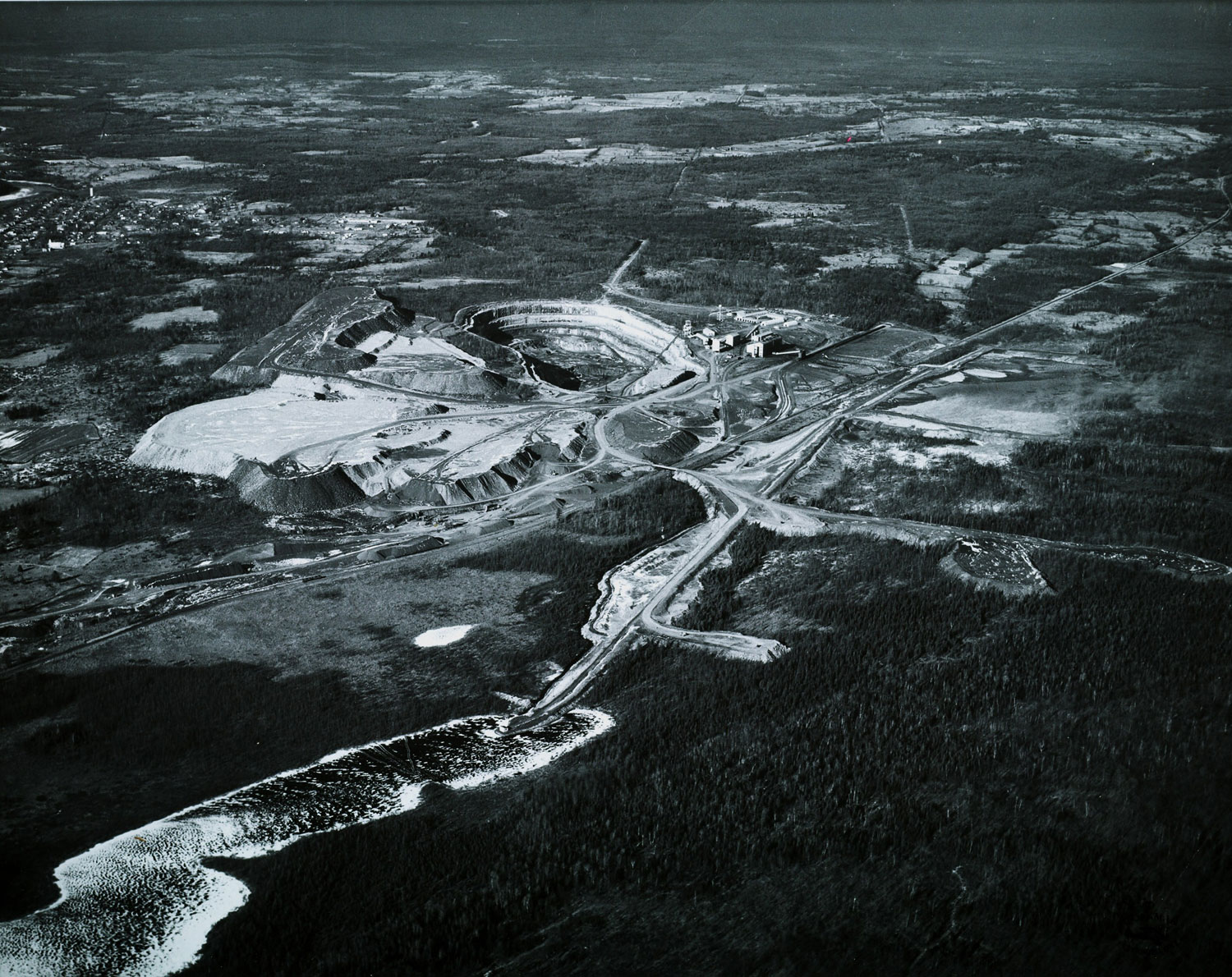Marmoraton Mining Co.  pit looking NW,  Dec. 1961