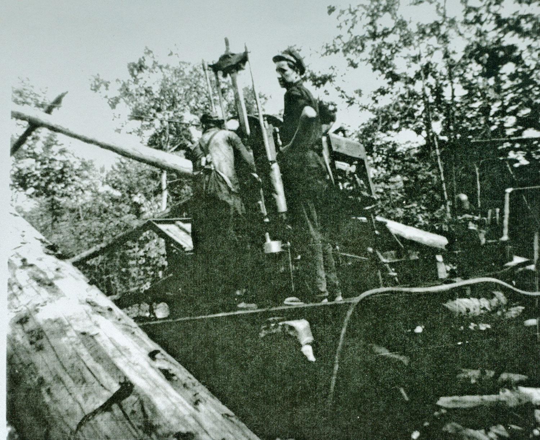 1949-50 Joe Young and Don Logan diamond drilling
