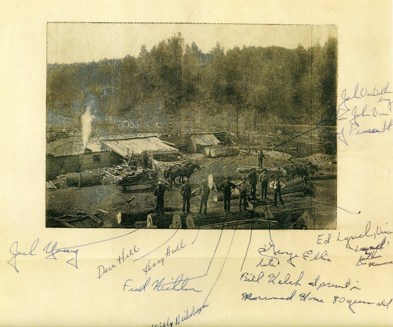 1913 Lynch-Ryan Saw Mill,  Deer Lake (Cordova Lake)