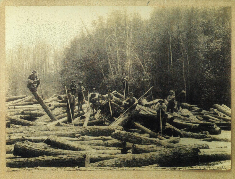 Lumbering - The Log Drive