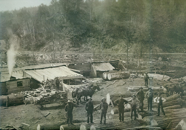 Lynch Ryan Mill, 1910,  Deer Lake (Cordova Lake)
