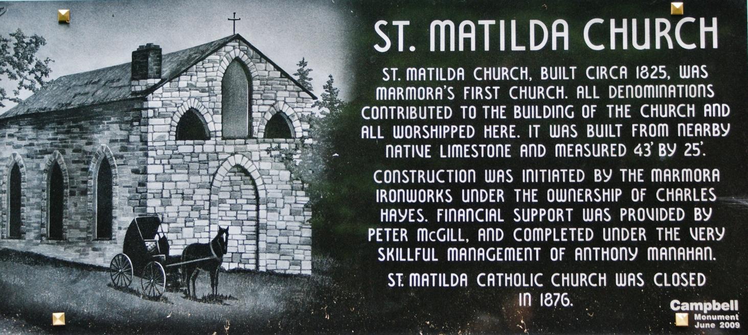 St. Matilda's plaque, 2009.