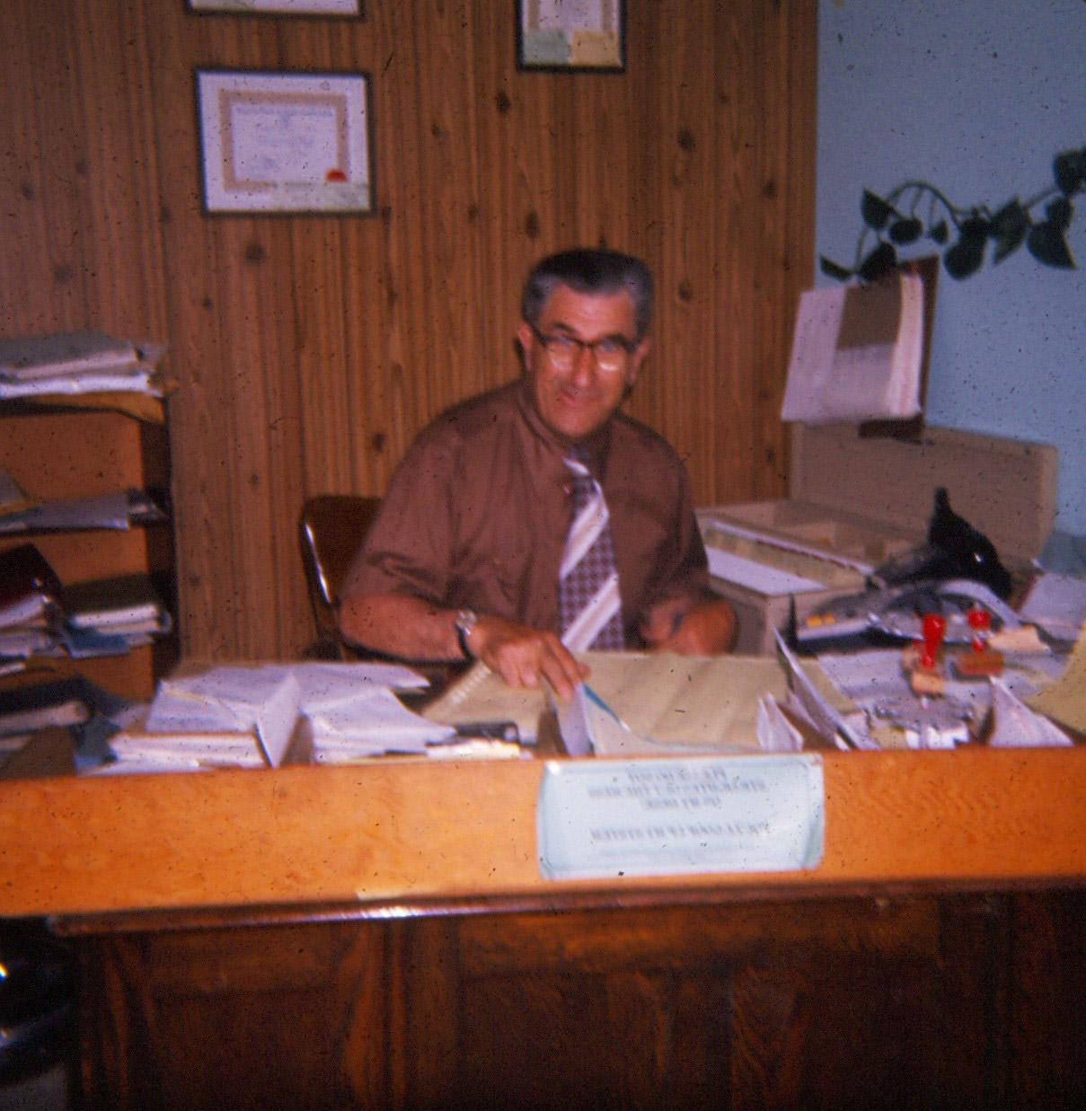 1977 Gordon Bennett, Insurance broker