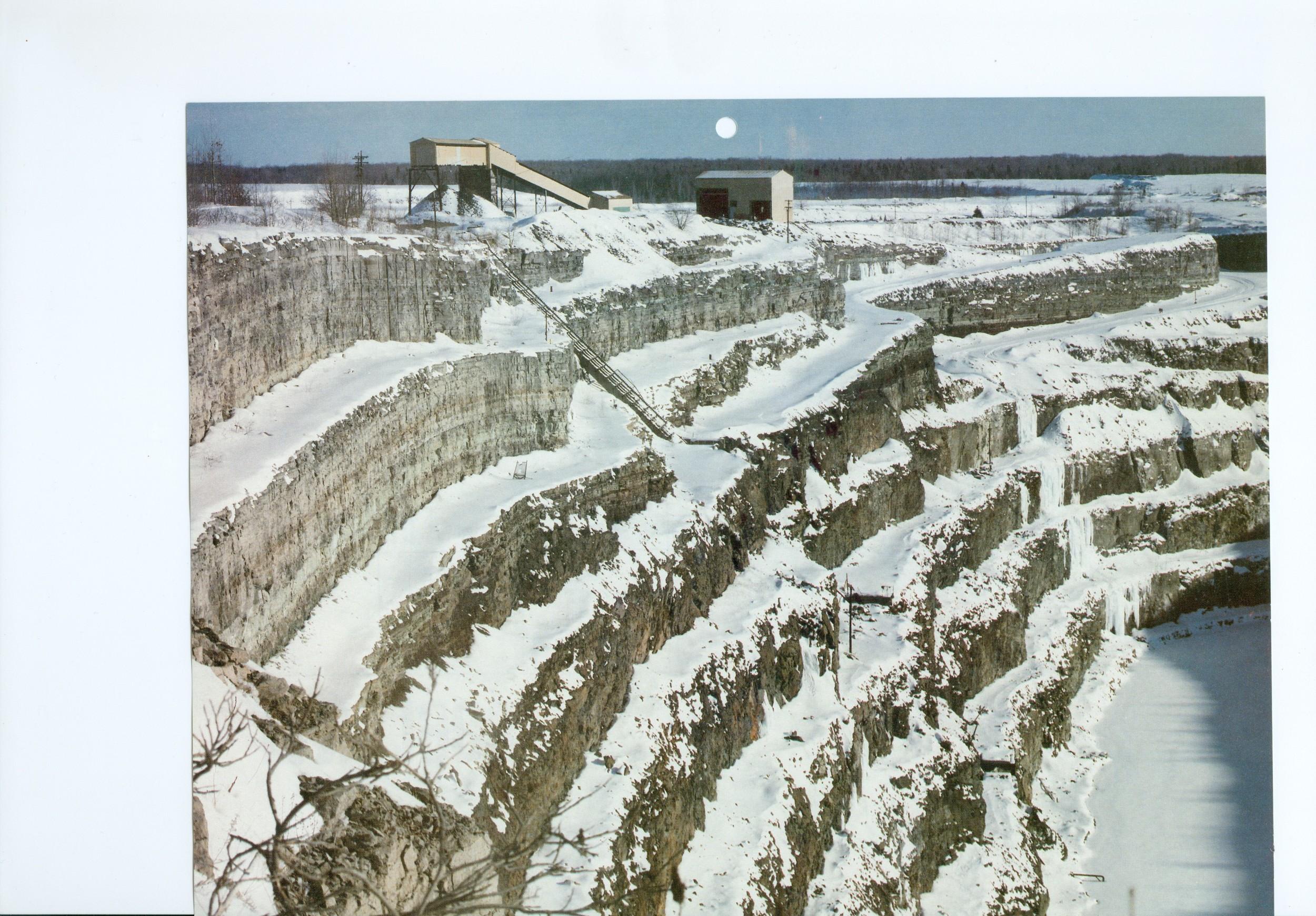 Marmoraton mine in winter