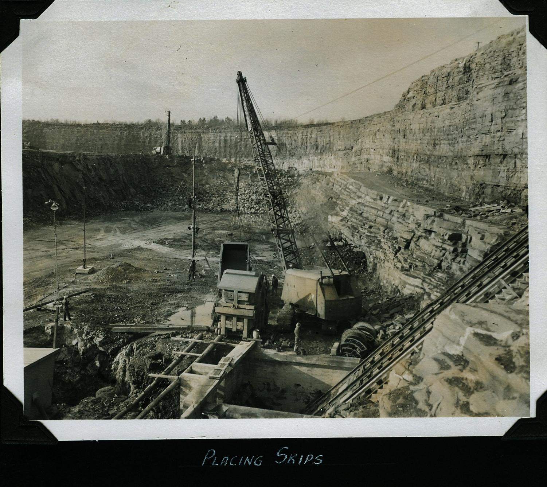 Marmoraton Mine,  Marmora,  Bethlehem Steel - placing skips