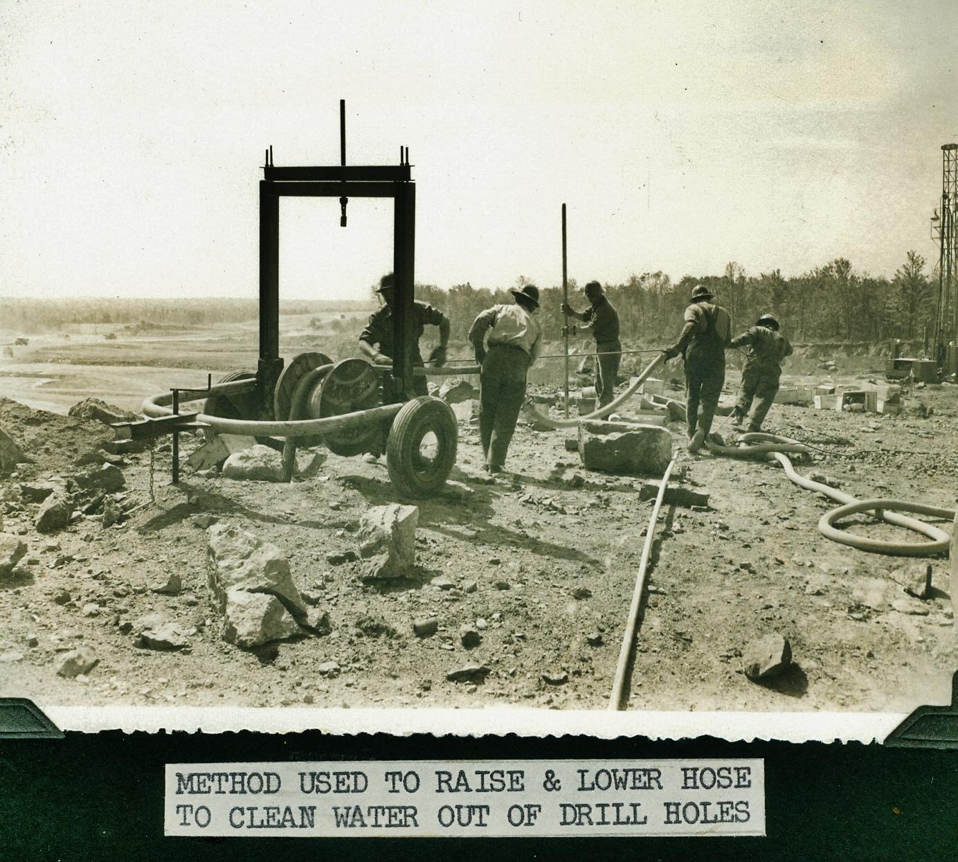 Marmoraton Mine,  Marmora,  Bethlehem Steel  - drilling