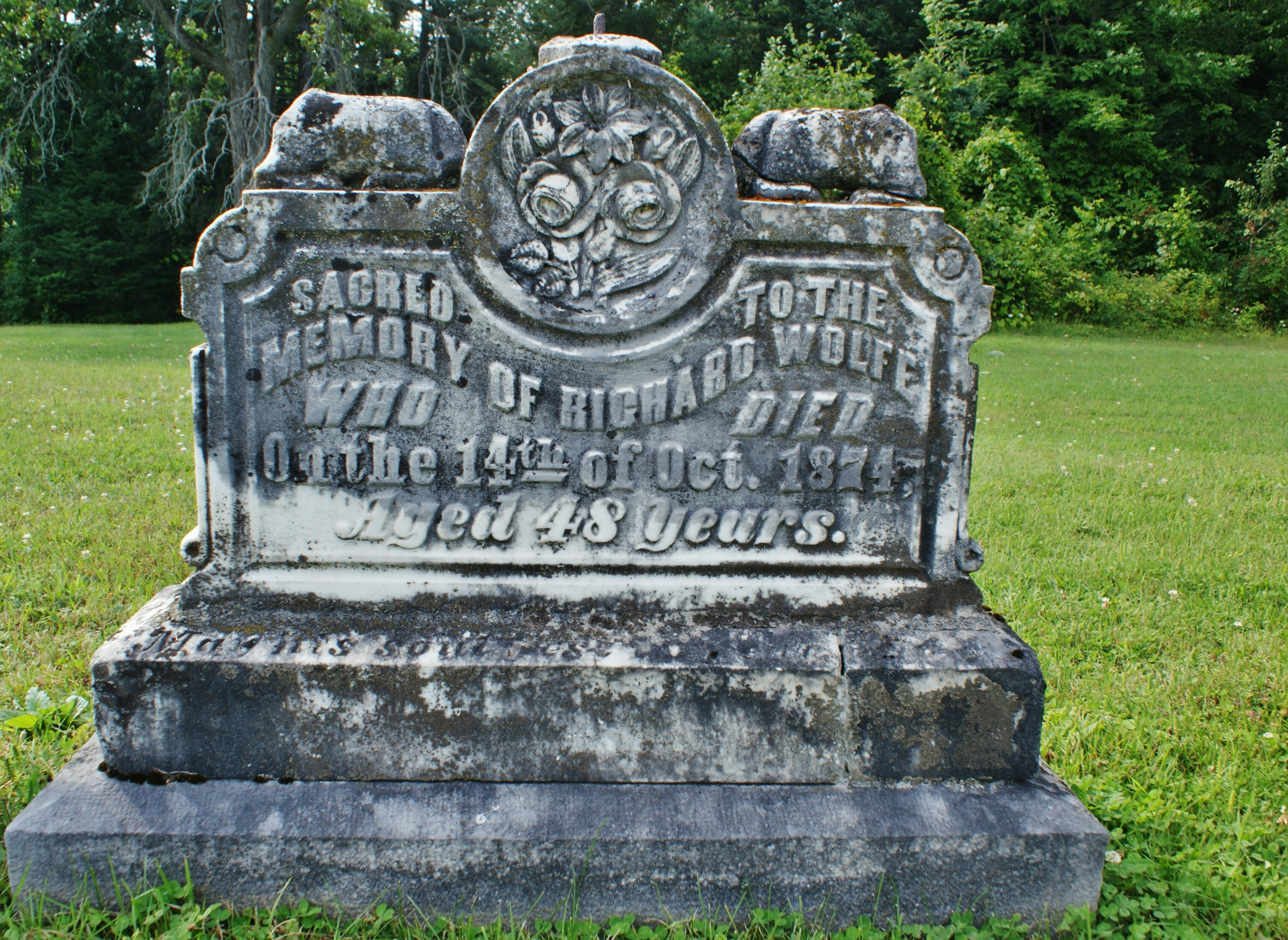 Hughes Cemetery, Centre Line Road, Marmora, Richard Wolfe, 1874