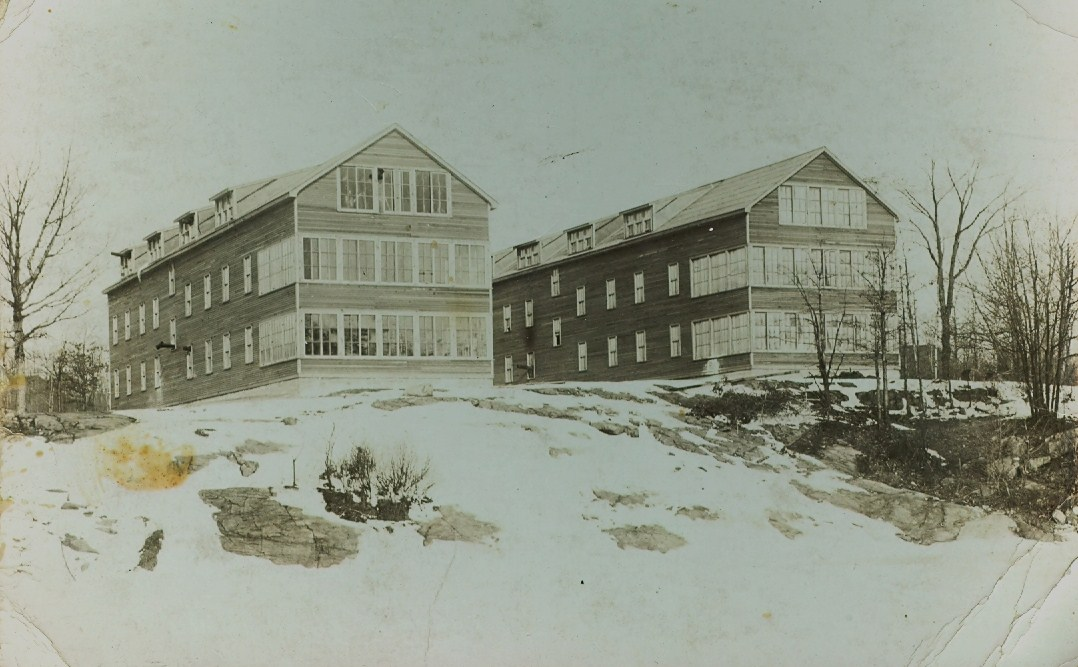 Deloro Workmen's Bunkhouses on banks of Moira North of Plant
