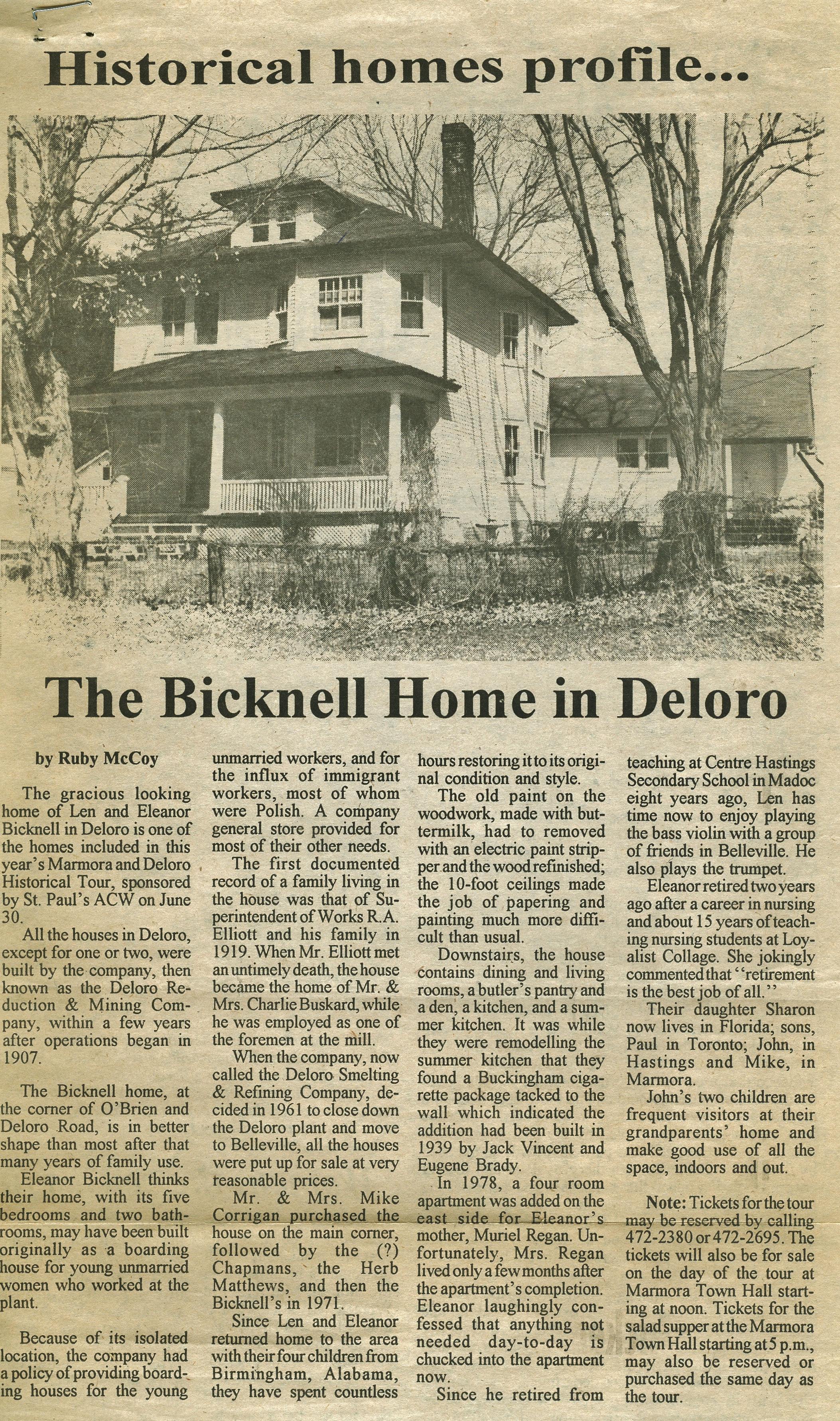 Eleanor  Bicknell House, Deloro.jpg