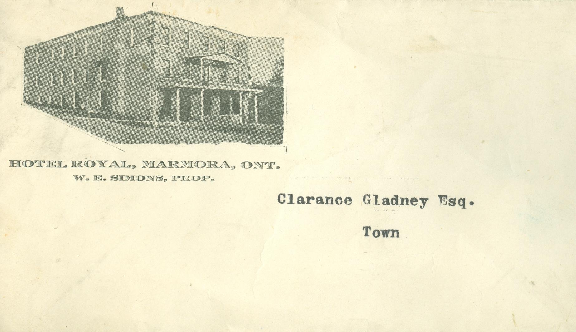 Marmora Village,  Royal Hotel,  Letterhead.jpg