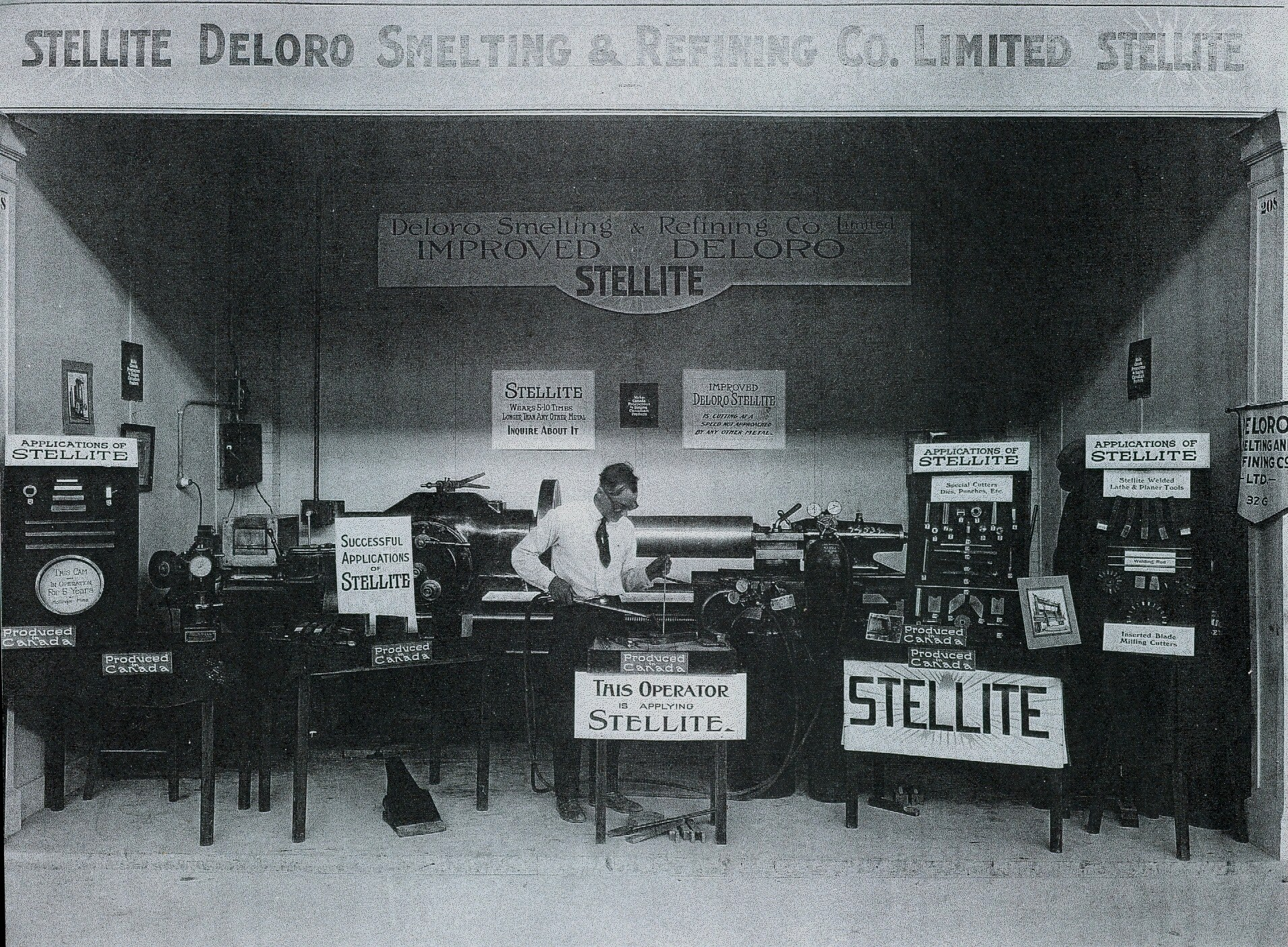 1939 Deloro Smelting & Refining Co display,  Joseph Hulsman Sr.