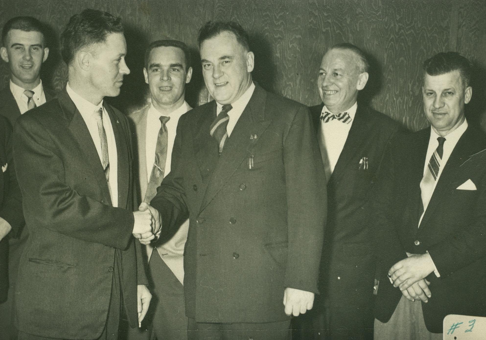 .Glen Derry; Maurice Fenton; George 'Buck' Mantle; Bill Monk; Bill MacDonald, George Osborne