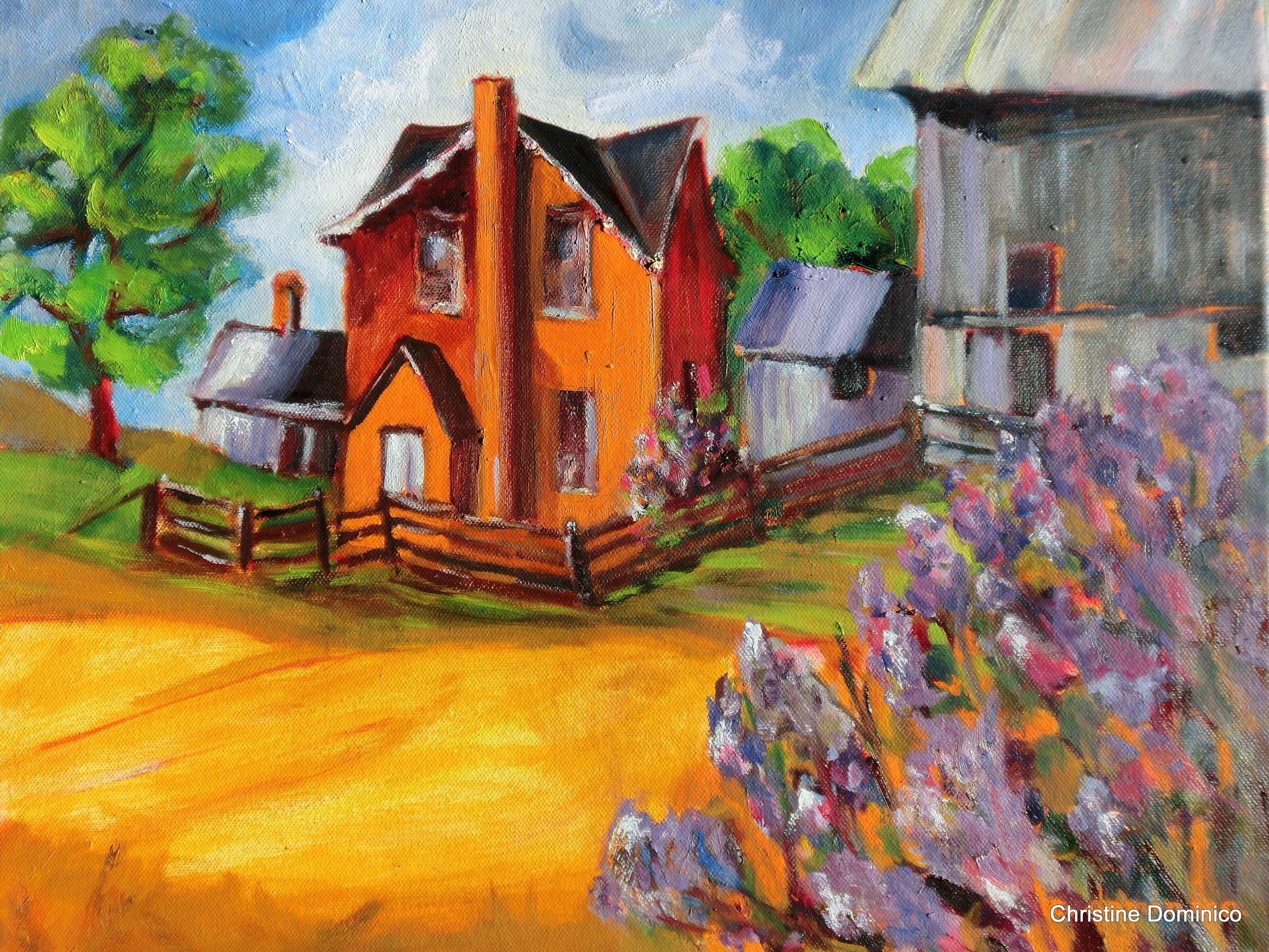 Orange Farmhouse - Oil