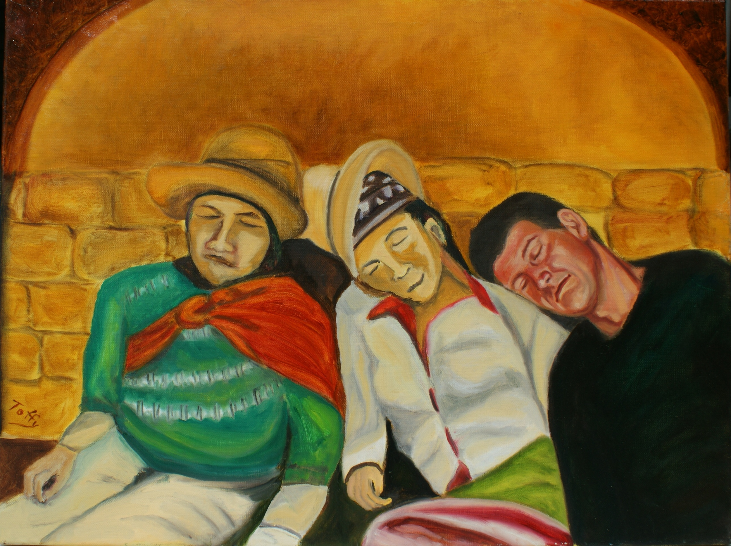 #115  Siesta on a Bolivian painting