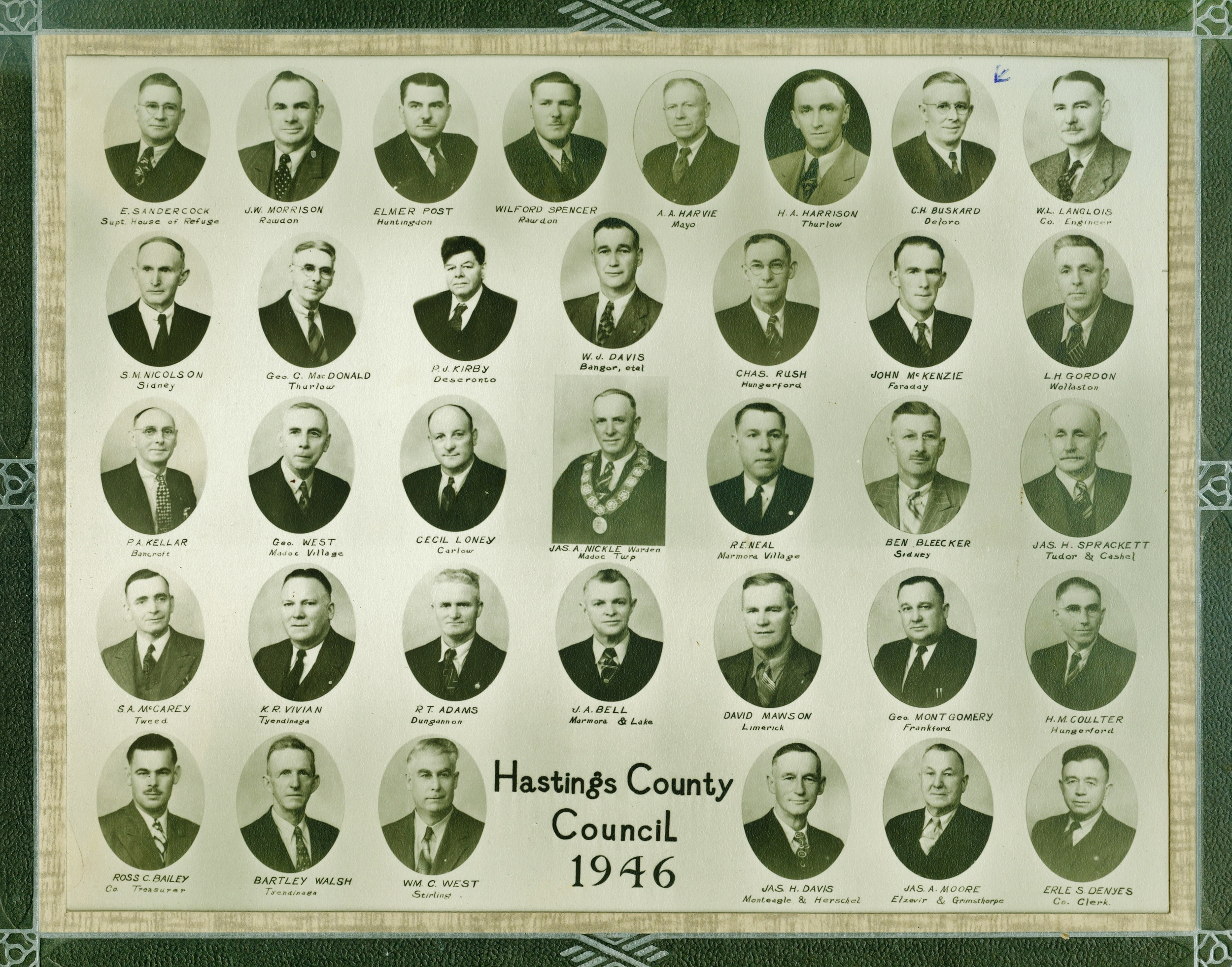 Hastings County Coucil, 1946, C.H. Buskard and Ralph Neal