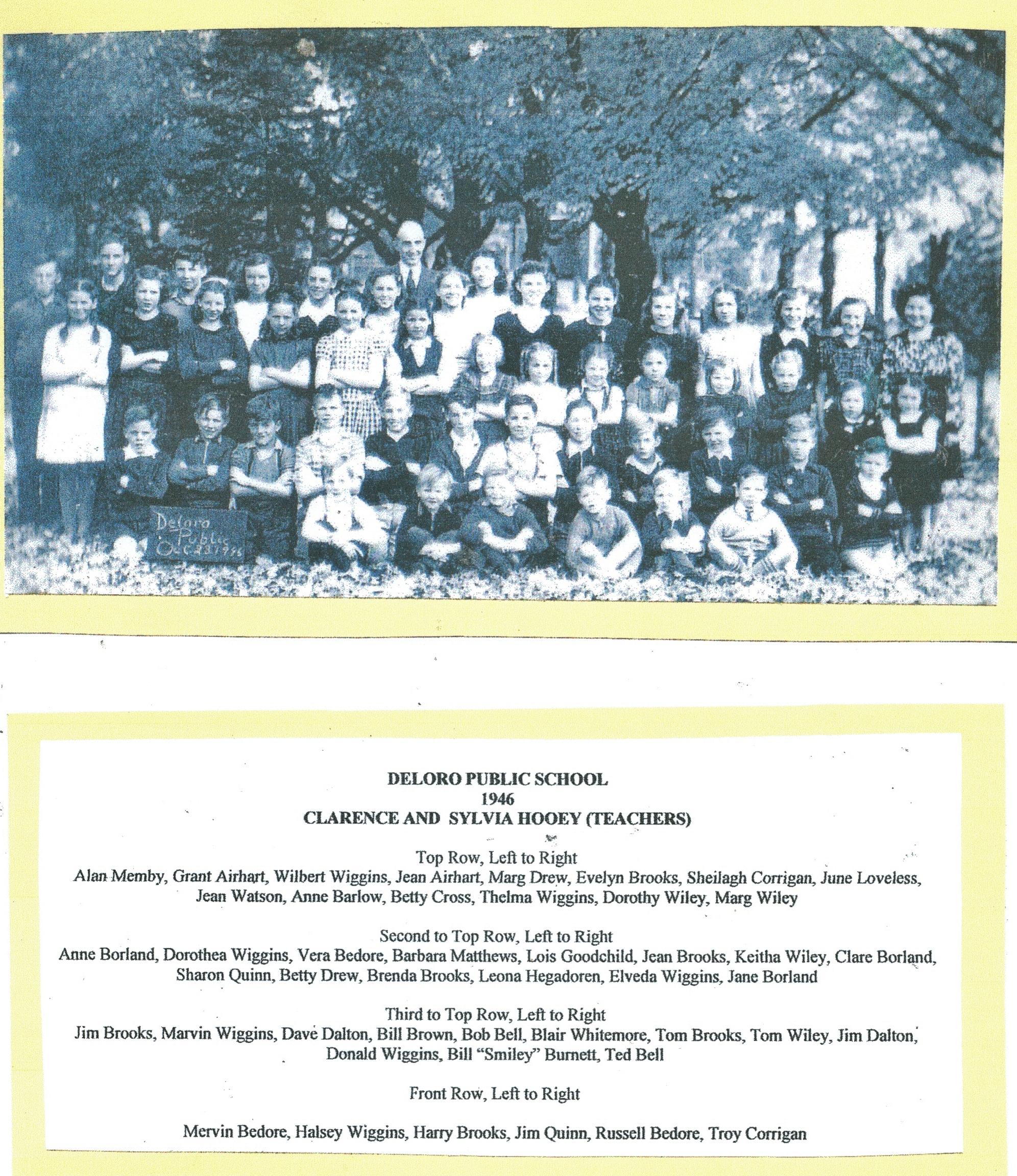 Deloro Public School 1946 - see previous photo