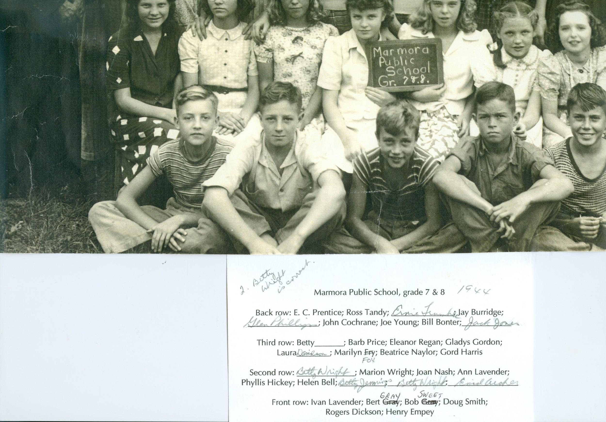 Marmora Public School 1944 Grade 7 & 8 (ID card).jpg