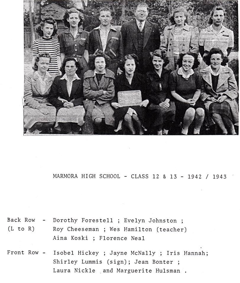 Continuation Sch 1943 Grades 12/ 13