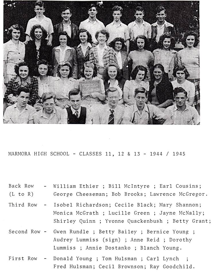 Marmora High sch 1945.jpg