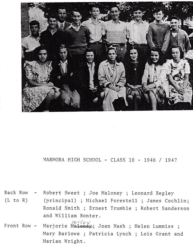 Marmora High school 1946.jpg