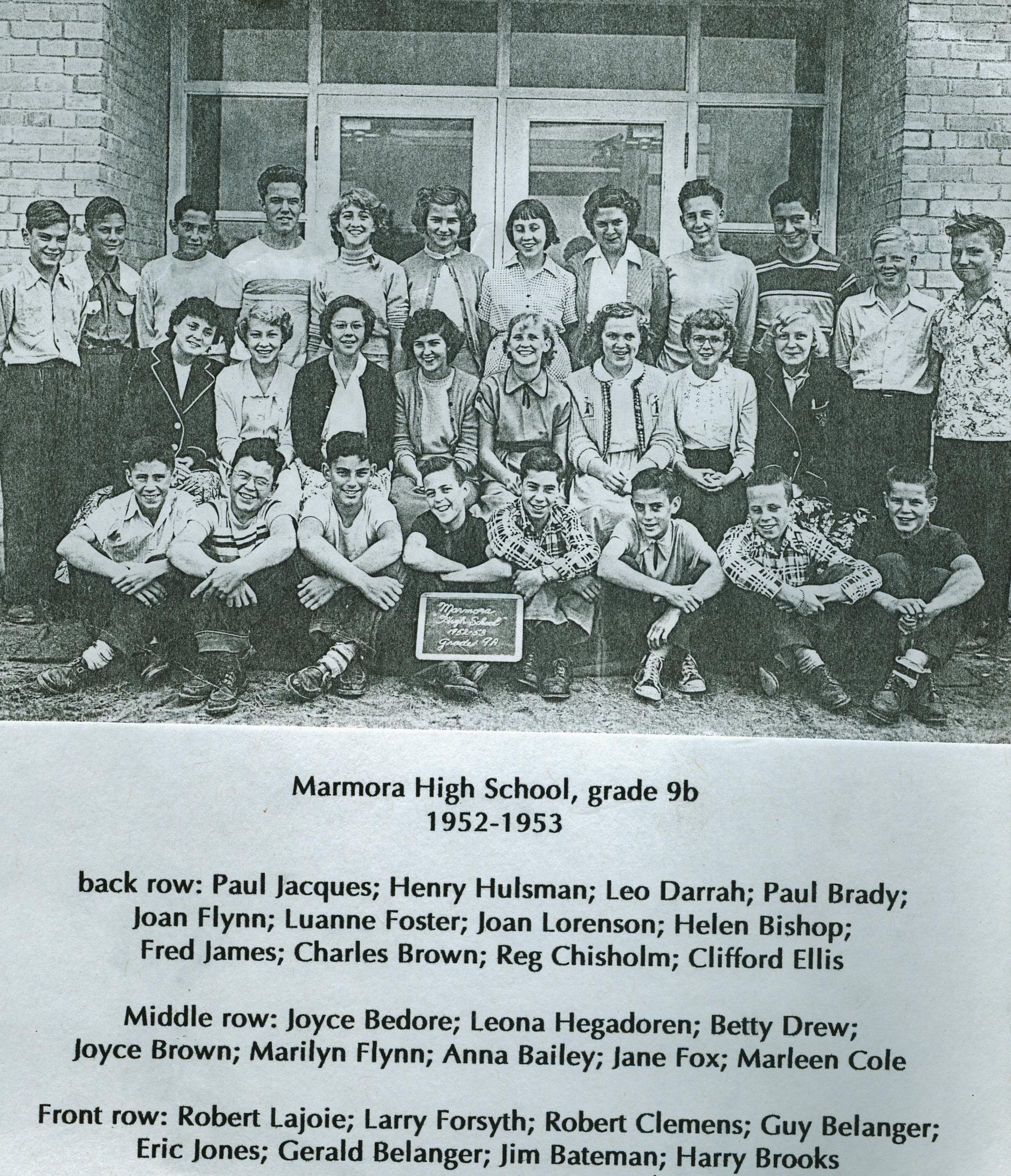 1952-1953 Marmora High School  Grade 9A.jpg