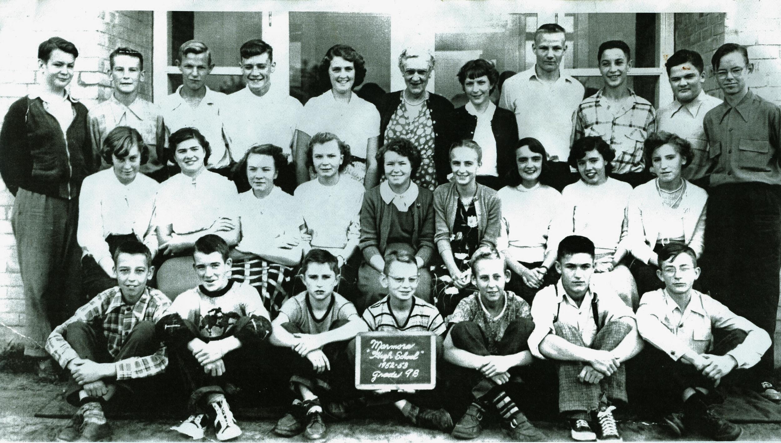 1952-1953  Marmora High School  Grade 9B.jpg