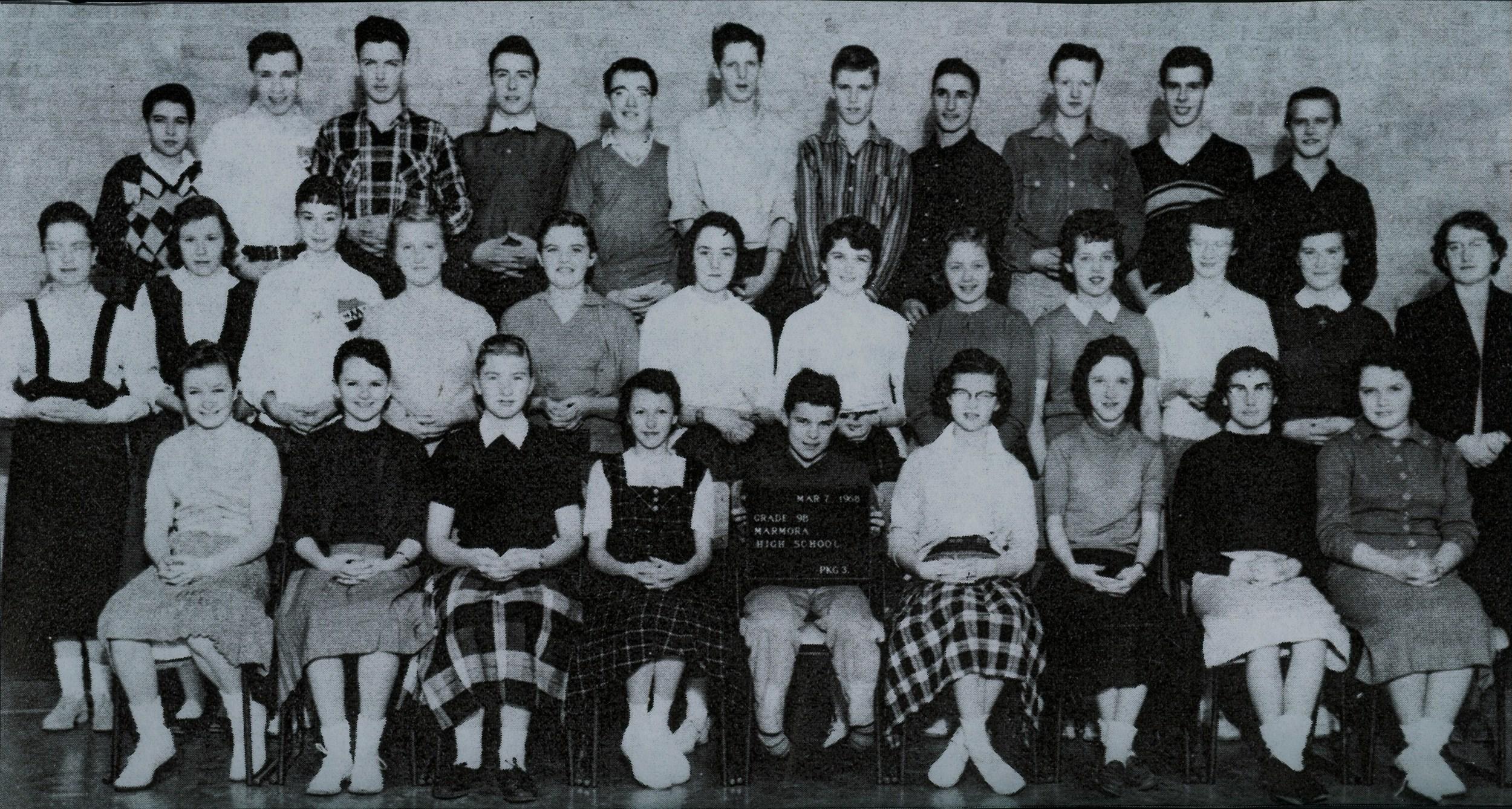 1958 Marmora high School,  Grade 9B.jpg