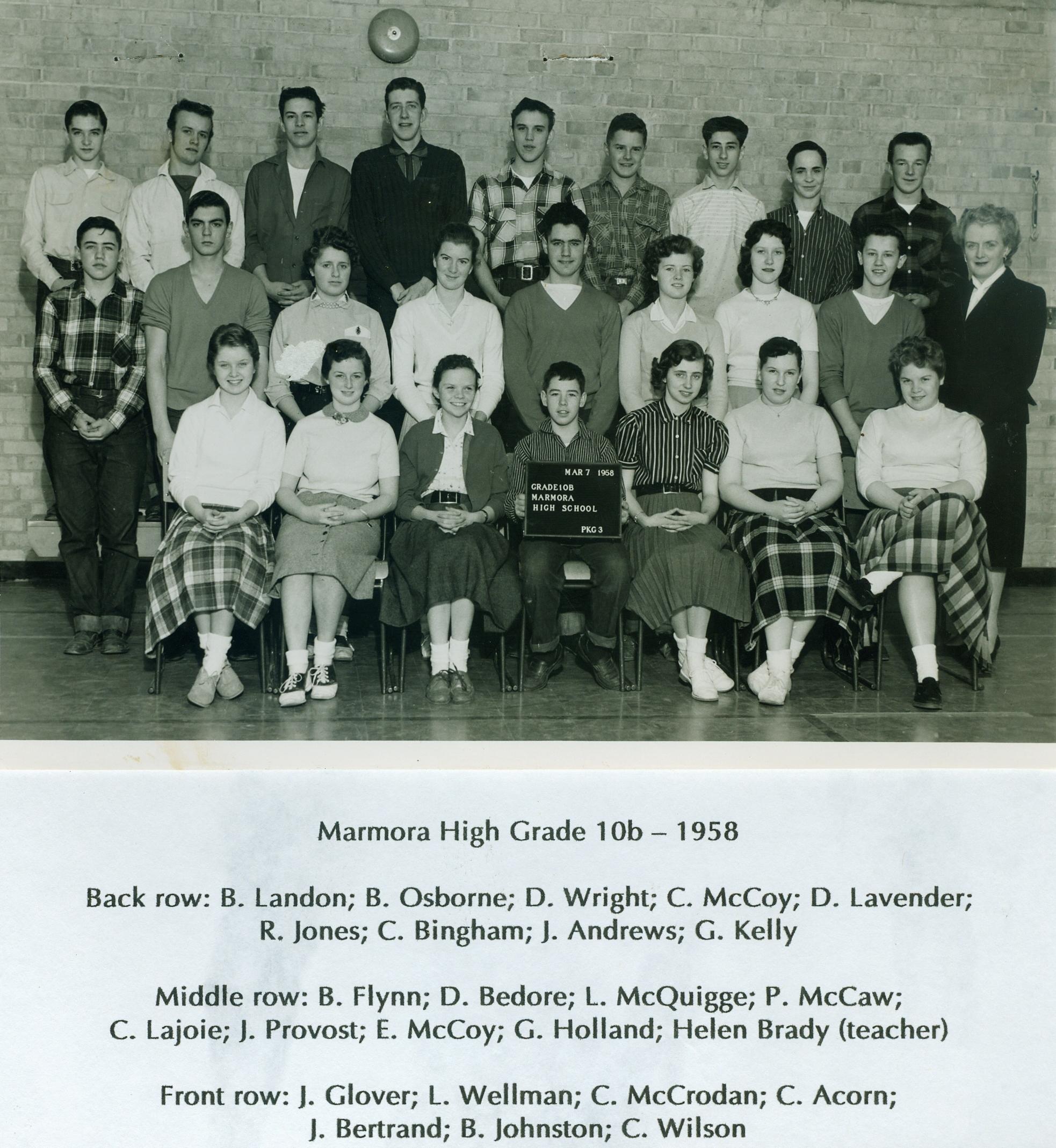 1958, Marmora High School,  Grade 10.jpg