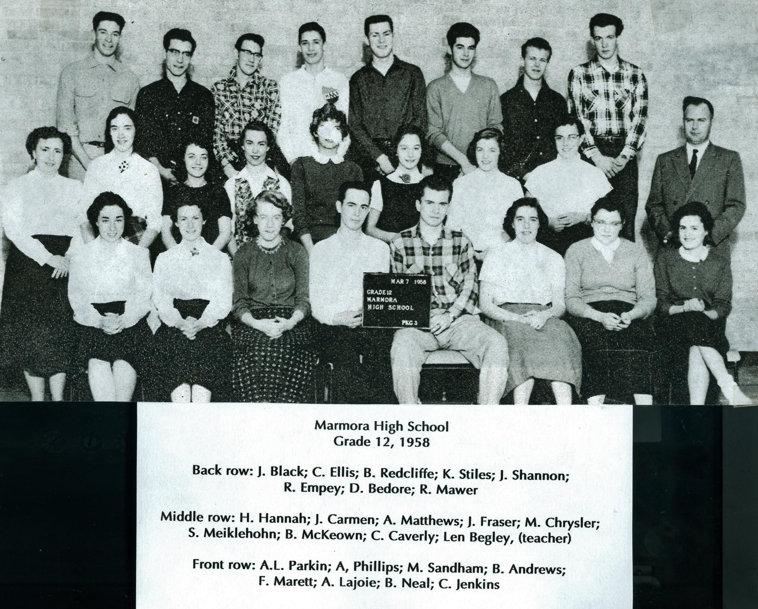 1958 Marmora High School, Gr. 12.jpg