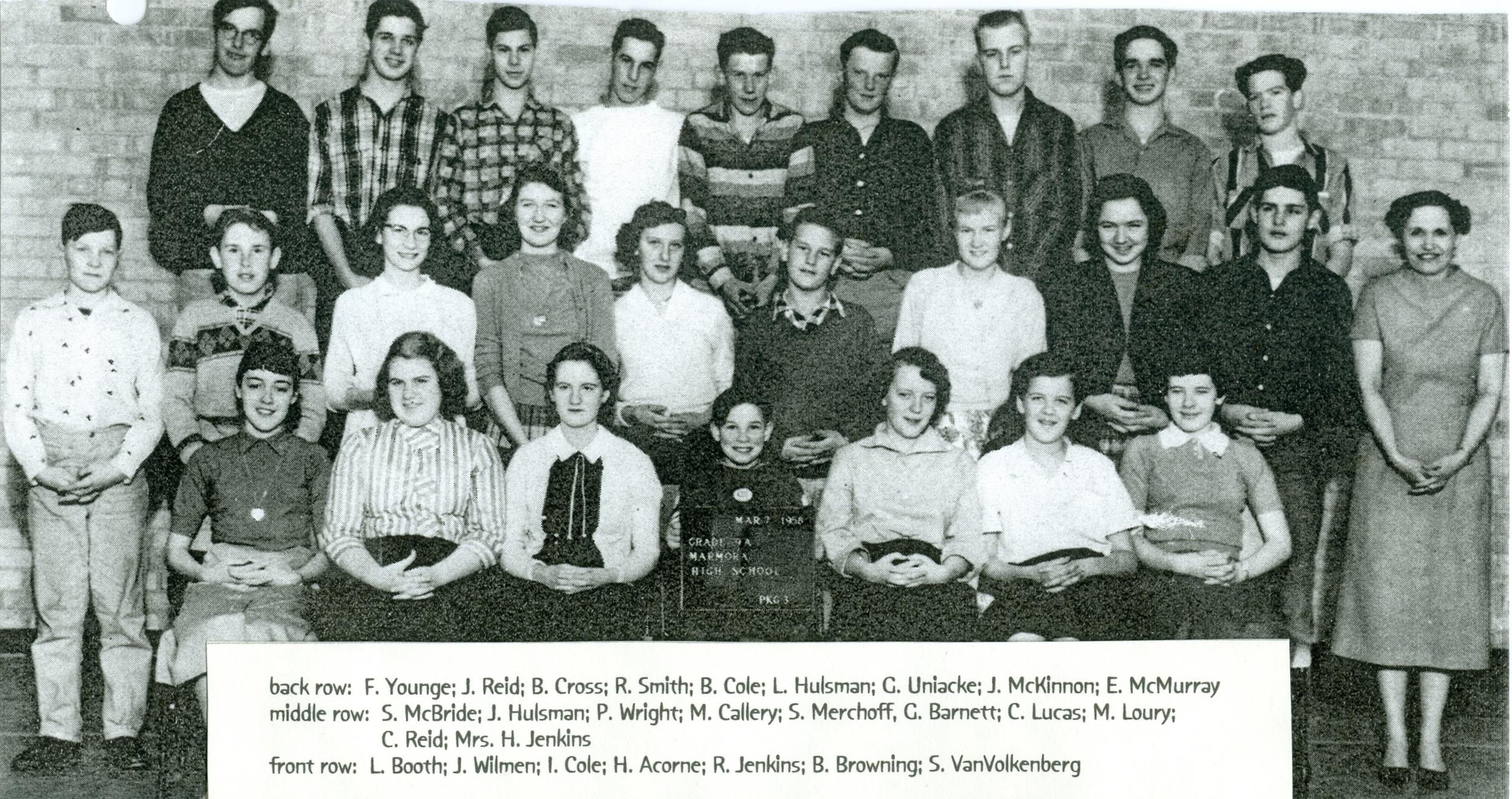 Marmora High School 1968  Grade 9.jpg