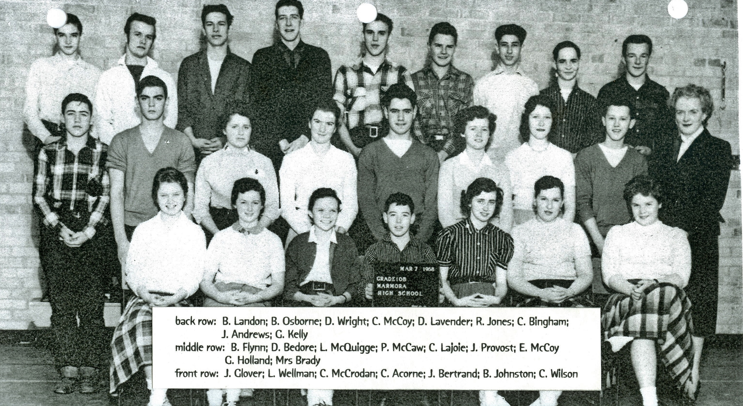 Marmora High School 1968  Grade 10.jpg