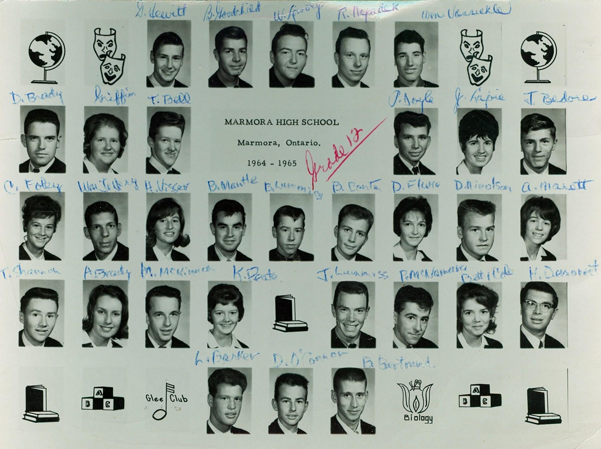 Marmora High School  Grade 12, 1964-1965.jpg