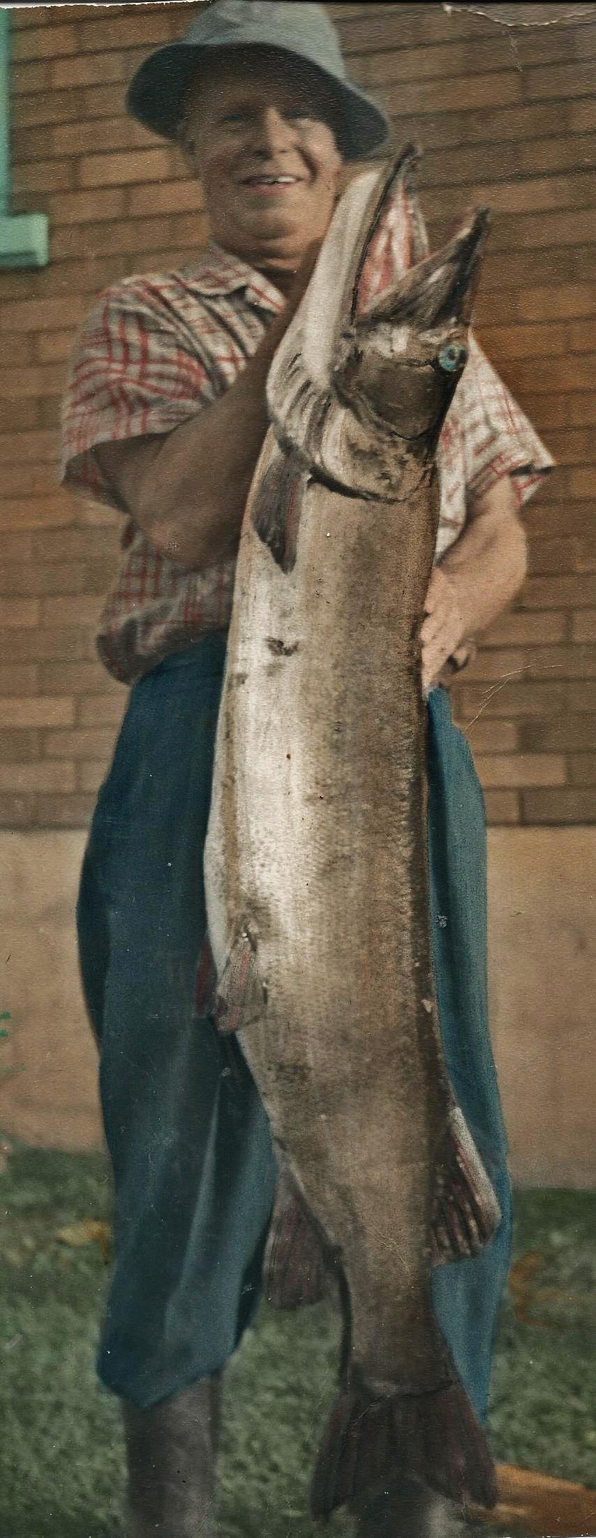 George Brooks & 42 lb Fish, 1948
