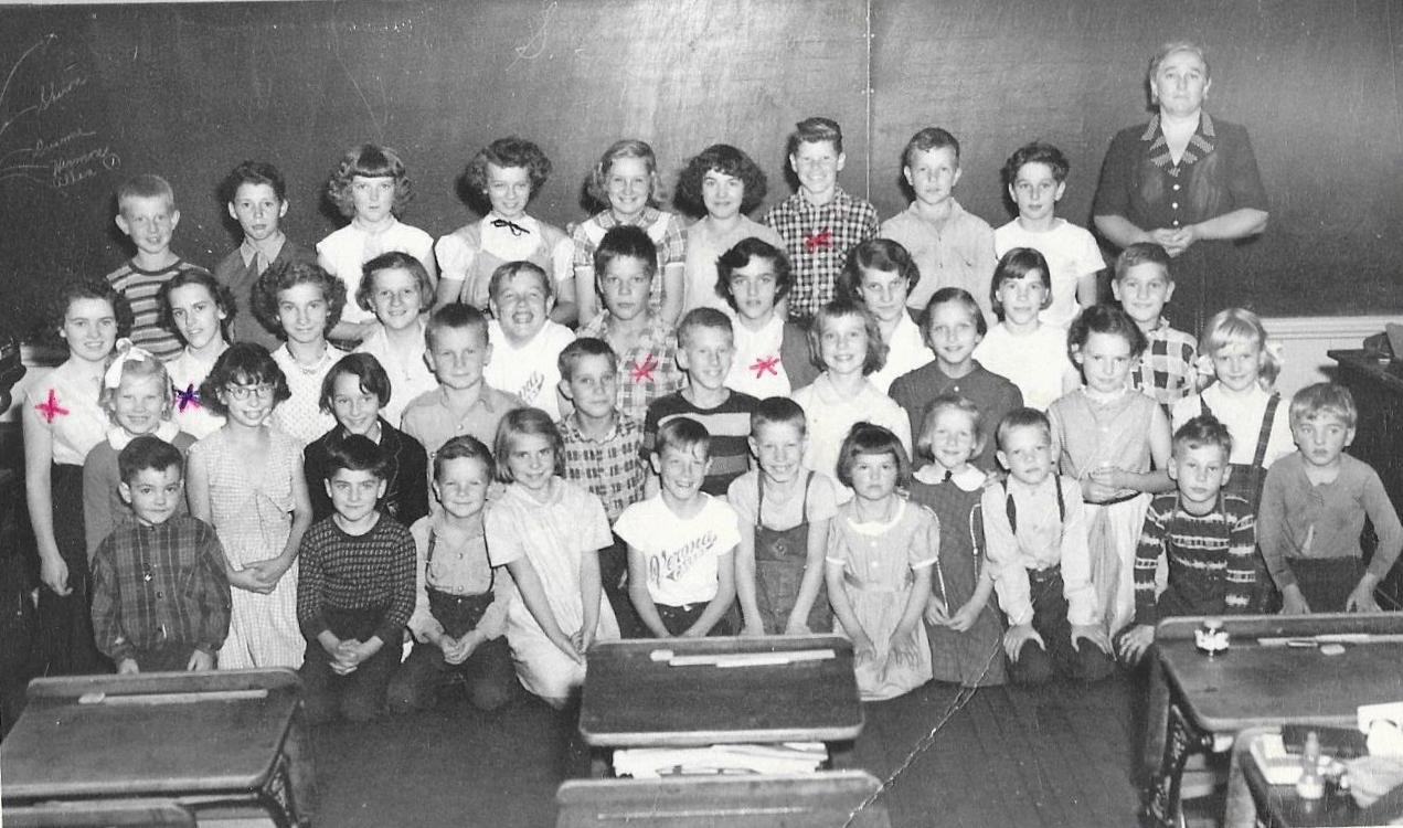 S.S.#5 Rawdon,  in   1954  All grades