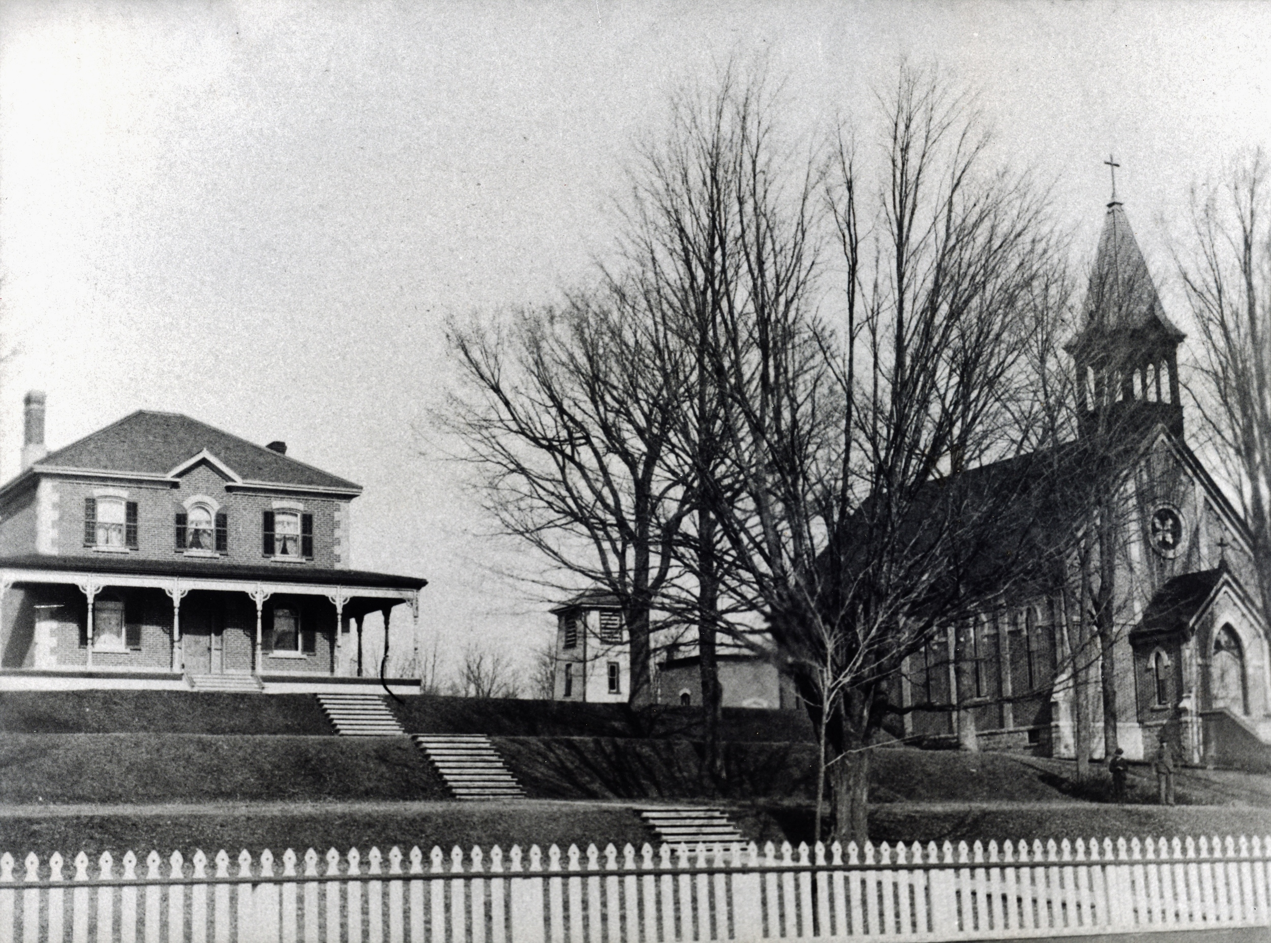 Roman Catholic Rectory built in 1895 and Church,  built 1875