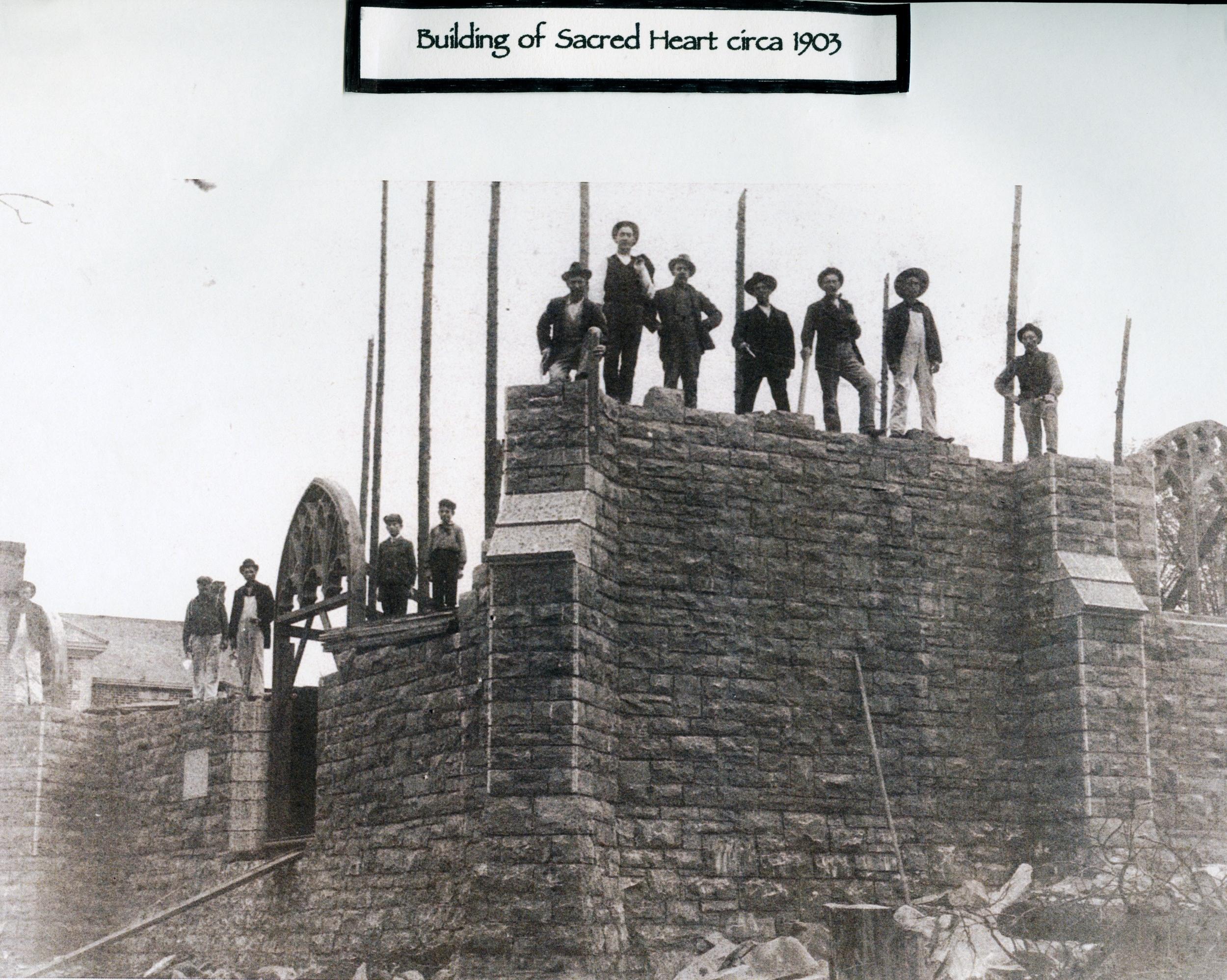 1903 Roman Catholic Church, Marmora Building new church after fire.jpg