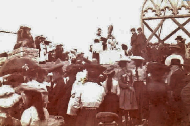 Blessing May 8, 1904 - Archbishop Gauthier , Rev. Thomas Murtagh, Rev. Peter McGuire, Hastings