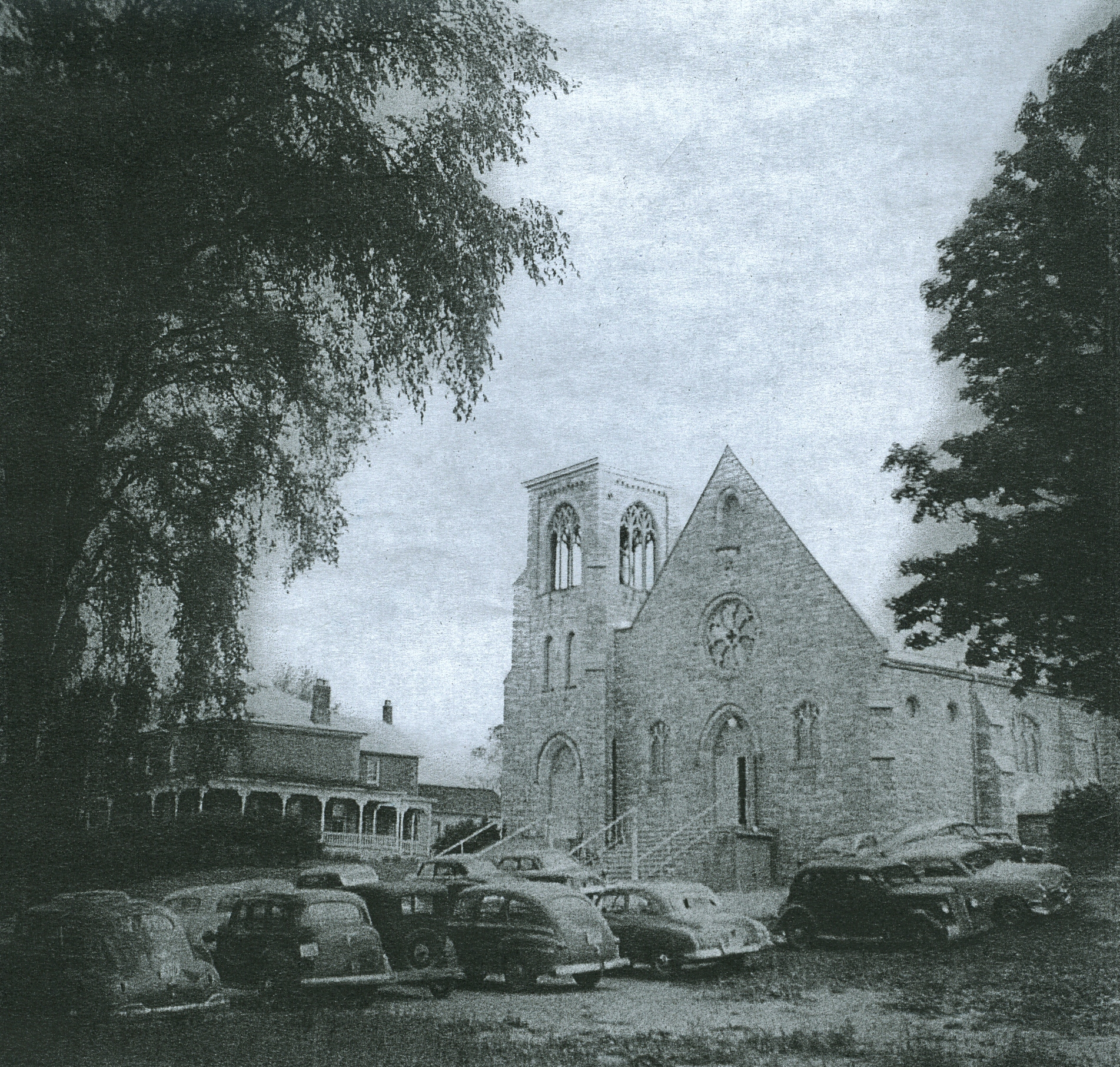 Sacred Heart Church and Rectory  1941
