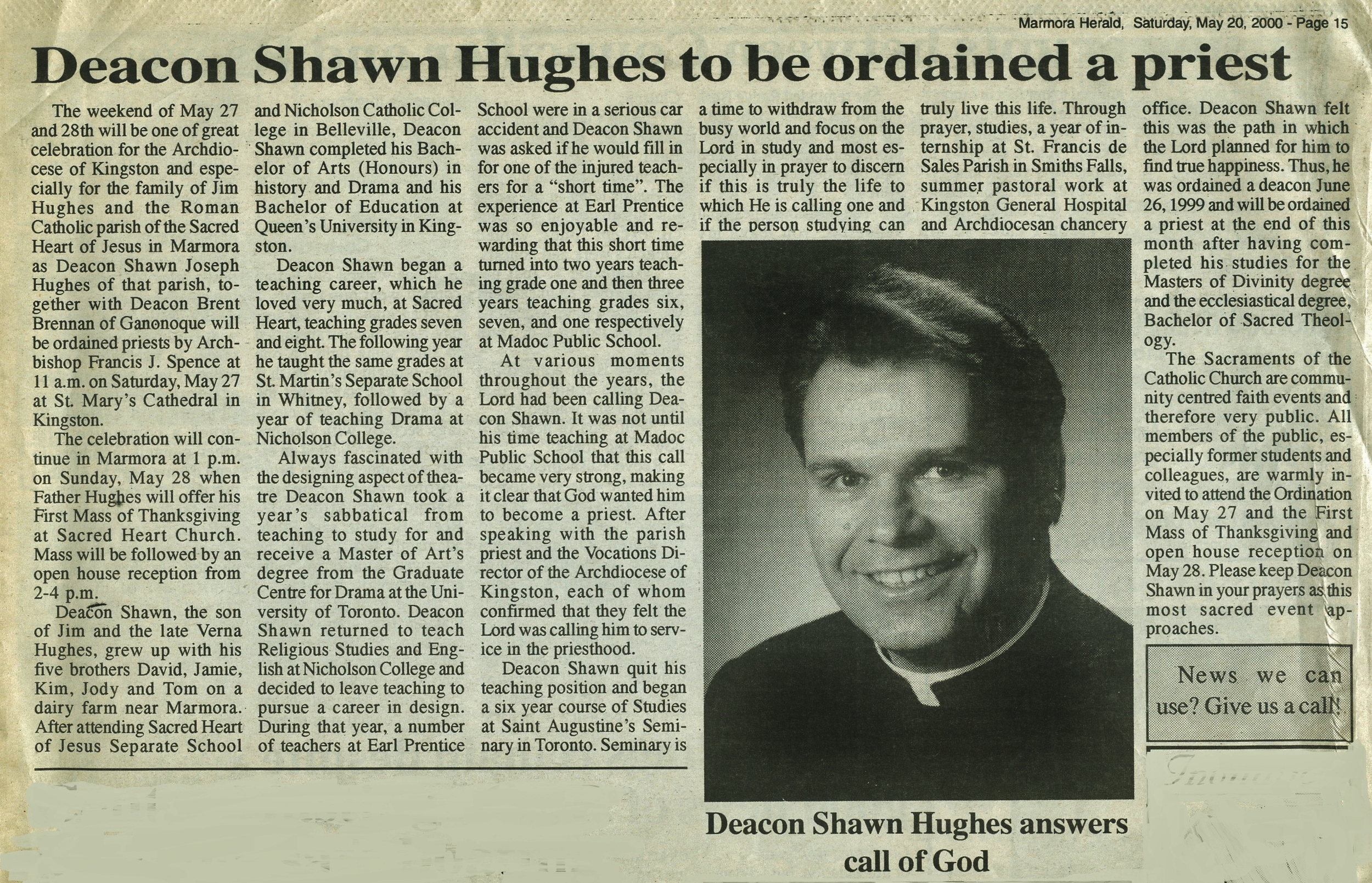 Click the photo to enlarge Ordained in 2000