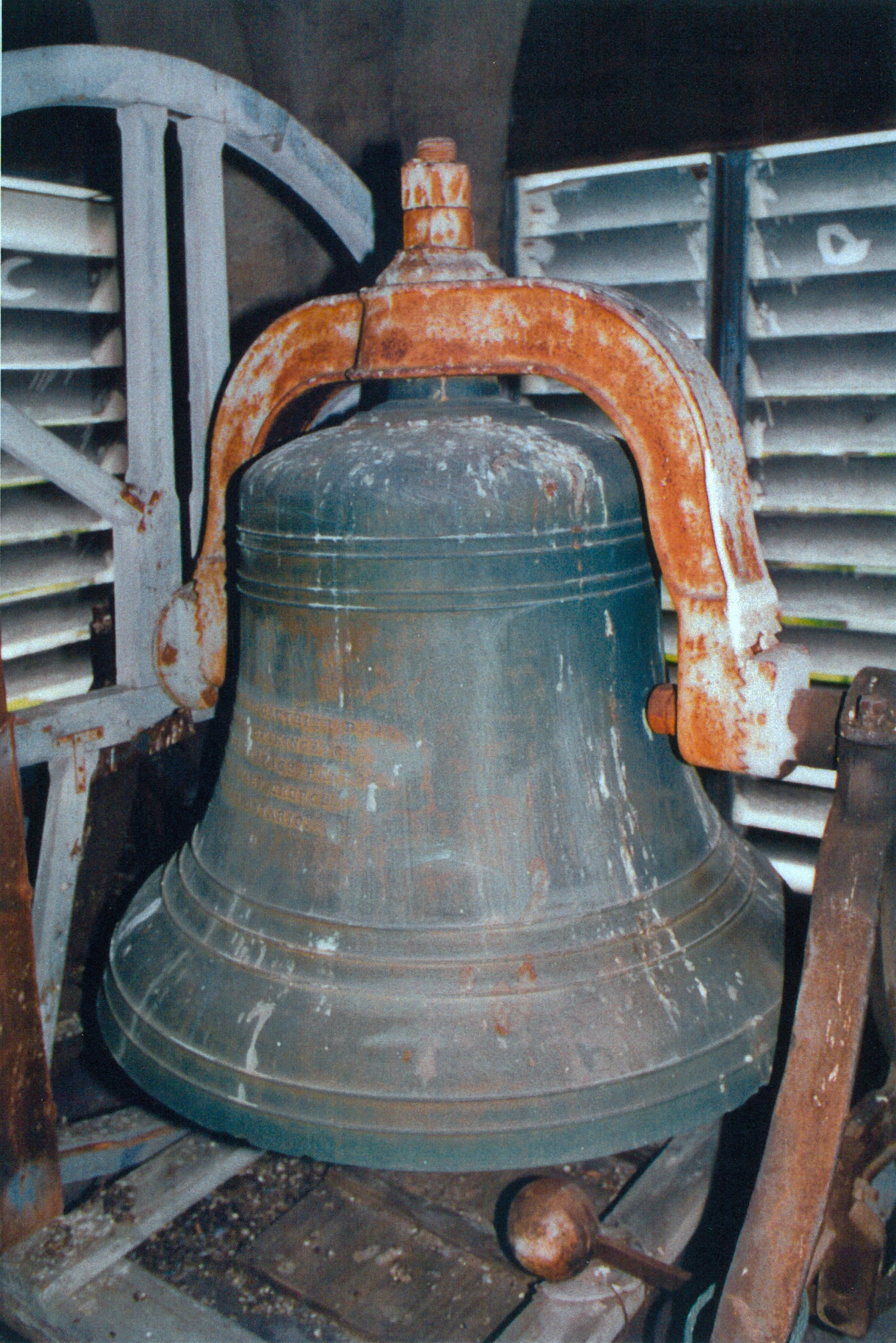 C lick here to read about the McShane Bell Foundry that made the bell .