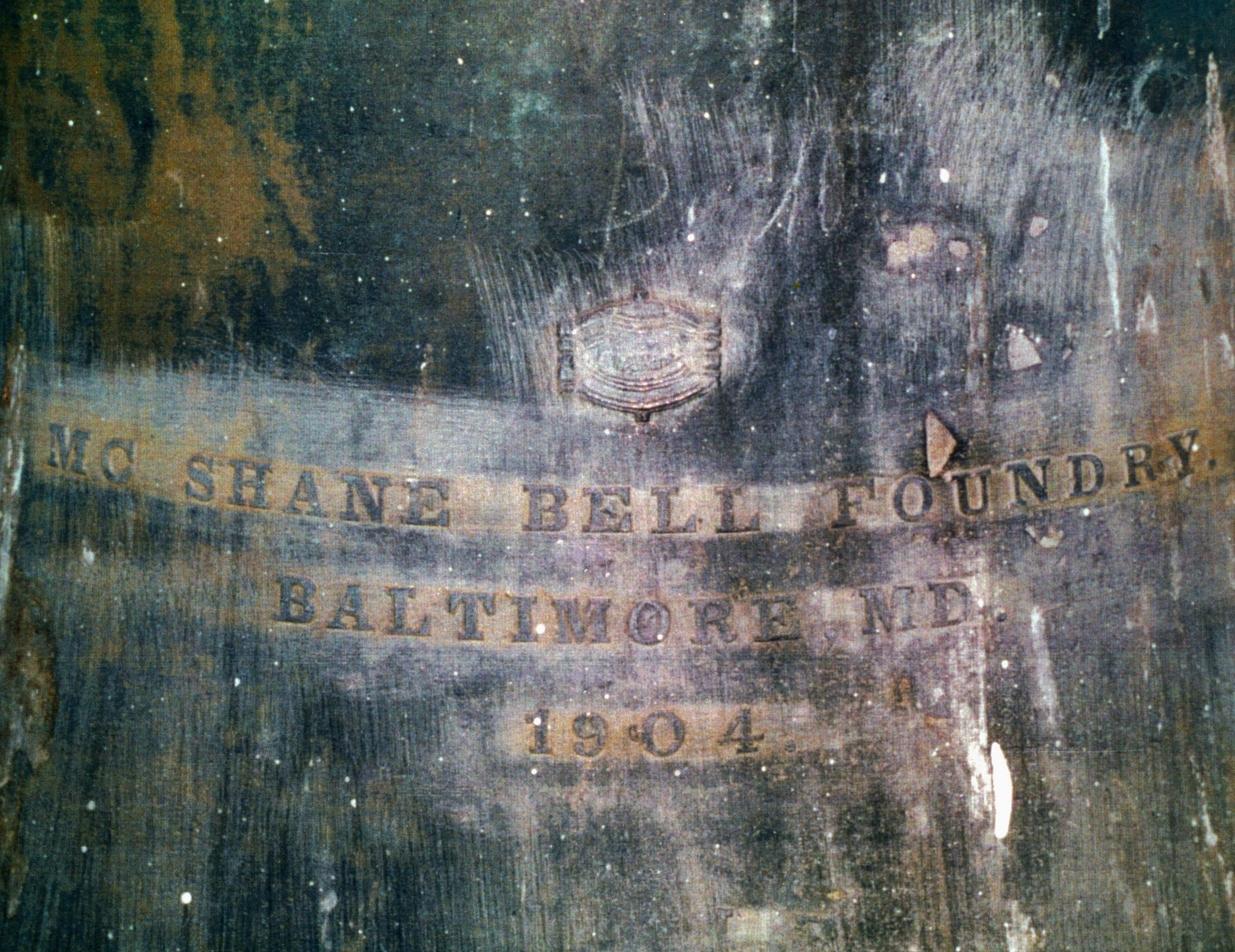 1904 Bell detail  from Roman Catholic Church, Marmora,  Shane Bell Foundry.jpg