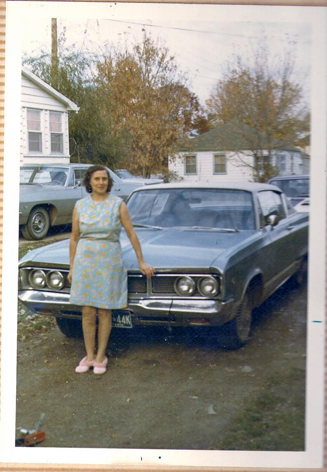 Ila Phillips (Nobes)  driveway on Pearce Street. 1960-70