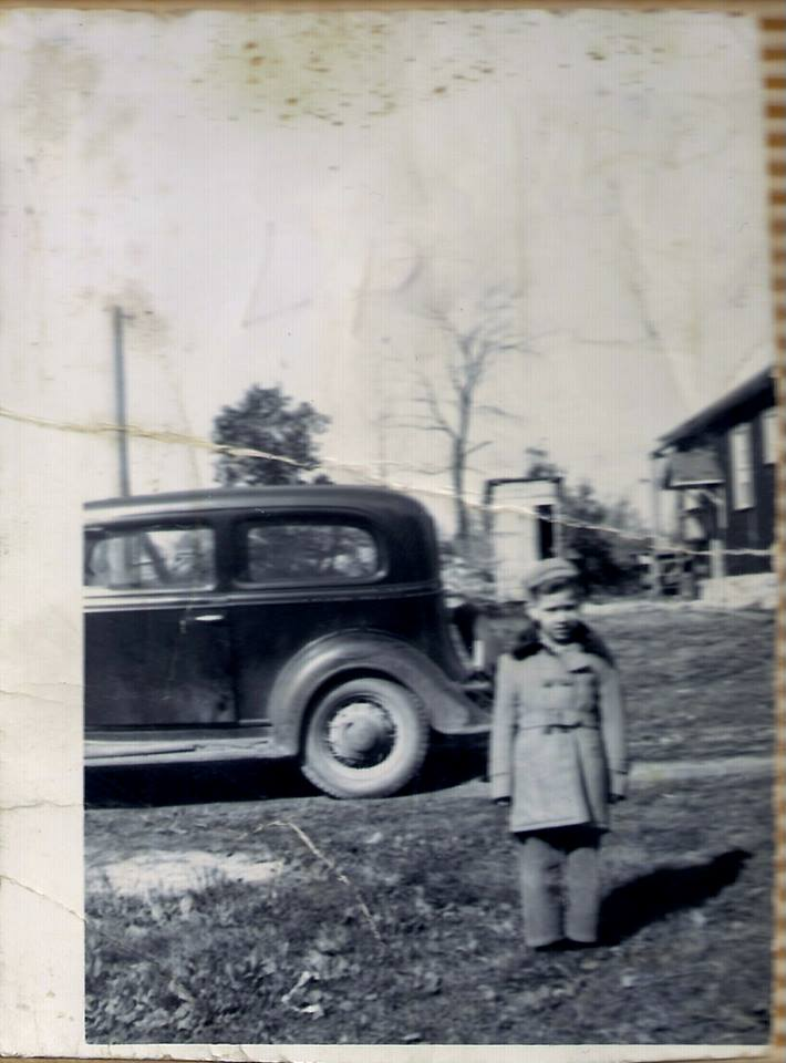 Larry Phillips, taken in the early 1950's in Thomasburg,