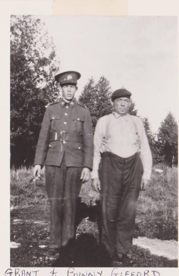 Grant Gifford - WW2 with his father Bunny (Warner) Gifford - WW1.