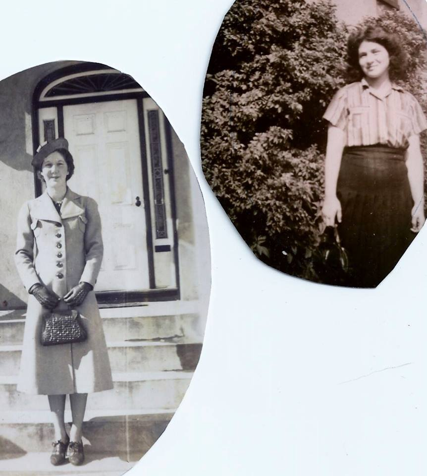 Mae Campbell Spry Simmons (mom of Jim Spry) & Dorothy Hynes Willman