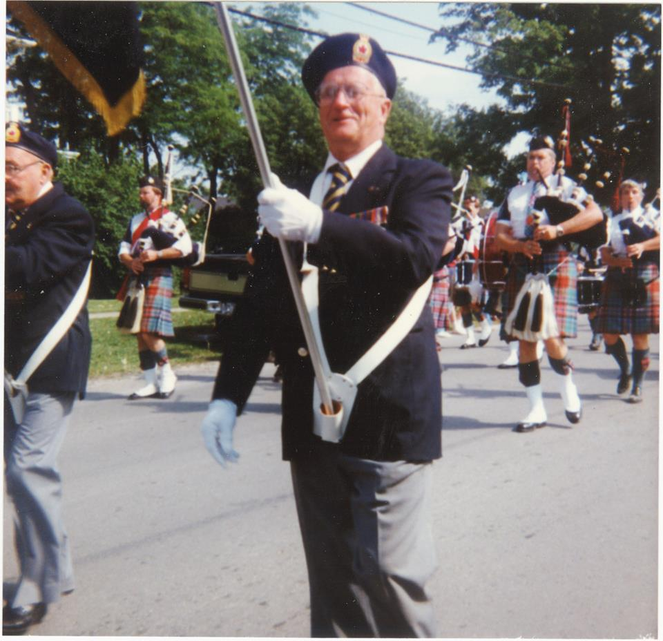 Don McQuaigg, who took part in one of Marmora's Canada Day parades.
