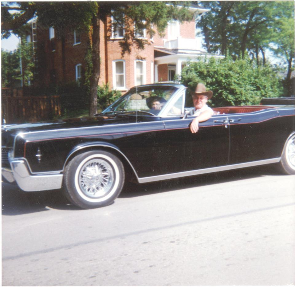 Pat & Ellwood Hamilton, taken at a Canada Day parade.