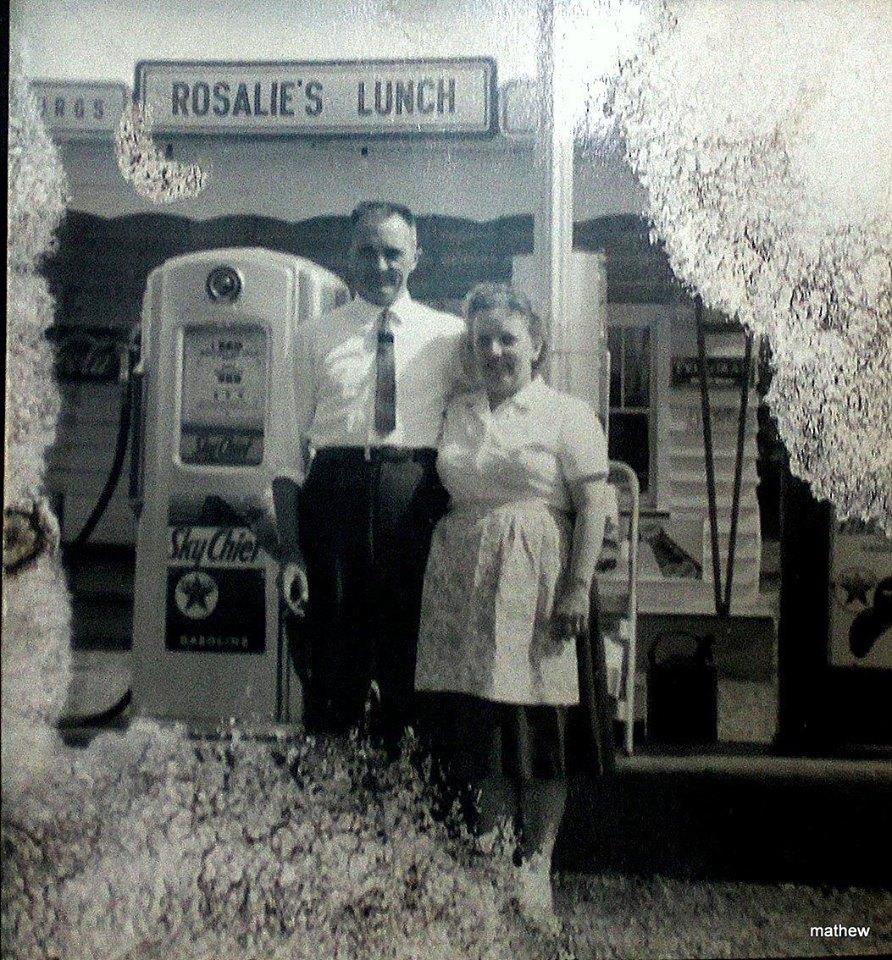 Rosalie's Lunch and Texaco  1972