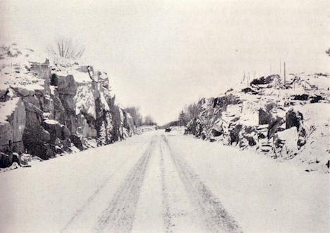 1933 photo of Marmora Rockcut - Hwy. #7